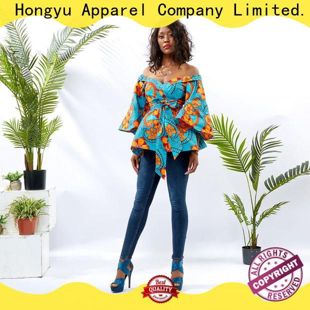 HongYu Apparel fashion custom womens shirts ladies mall
