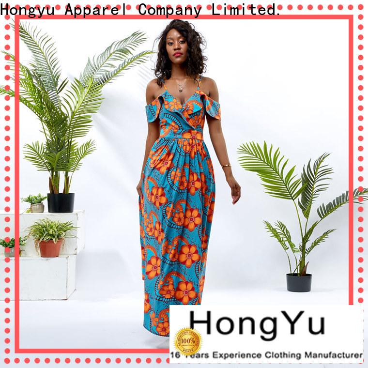 HongYu Apparel backless african short dress styles design reception