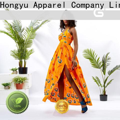 HongYu Apparel printed dress wholesale mall