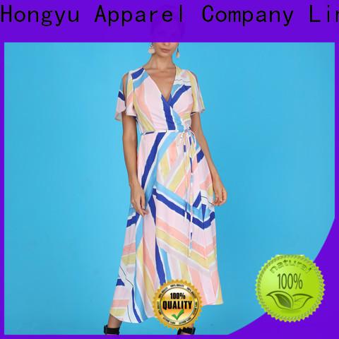 HongYu Apparel wax maxi dress with sleeves design africa