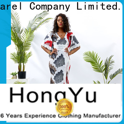 HongYu Apparel womens wrap dress design africa