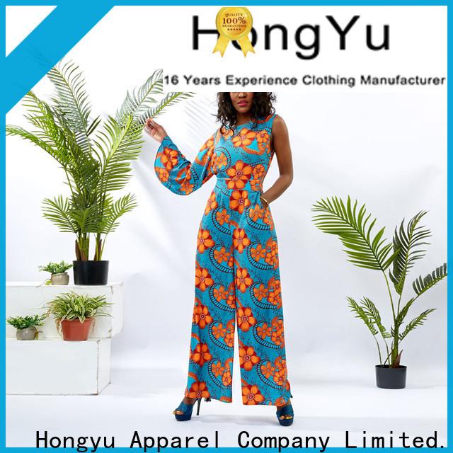 HongYu Apparel customize spring jumpsuits design women