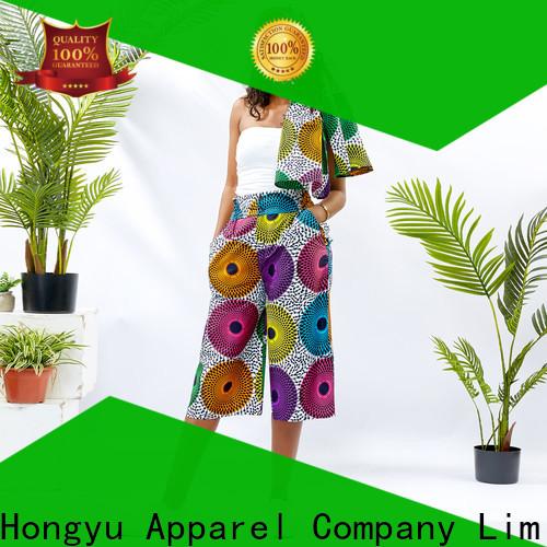 HongYu Apparel cotton summer pants women wholesale africa