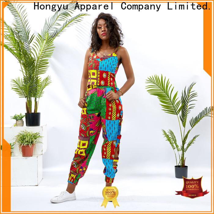 HongYu Apparel crop two piece floral dresses print africa