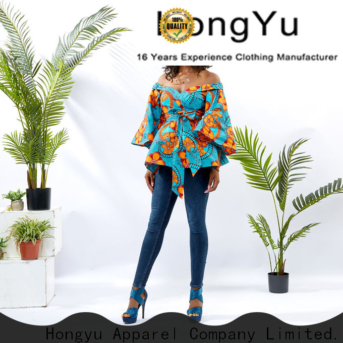 HongYu Apparel female tops shoulder africa