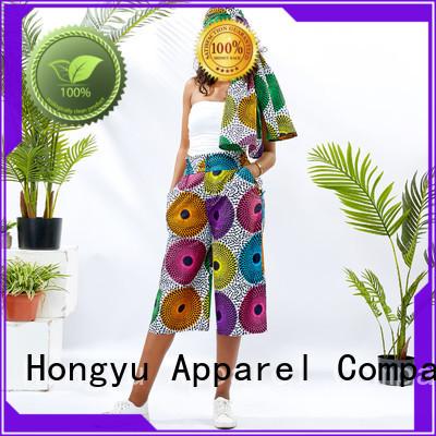 HongYu Apparel cotton colored dress pants design mall