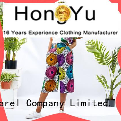 colorful women's cotton summer pants wholesale africa