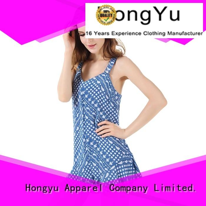 HongYu Apparel soft womens floral jumpsuit service travel
