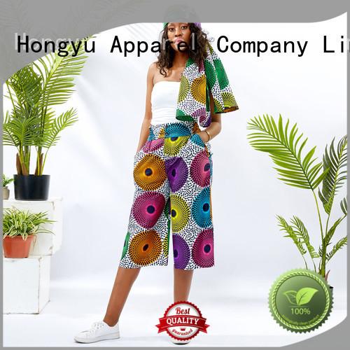 HongYu Apparel midi black casual pants womens wholesale africa