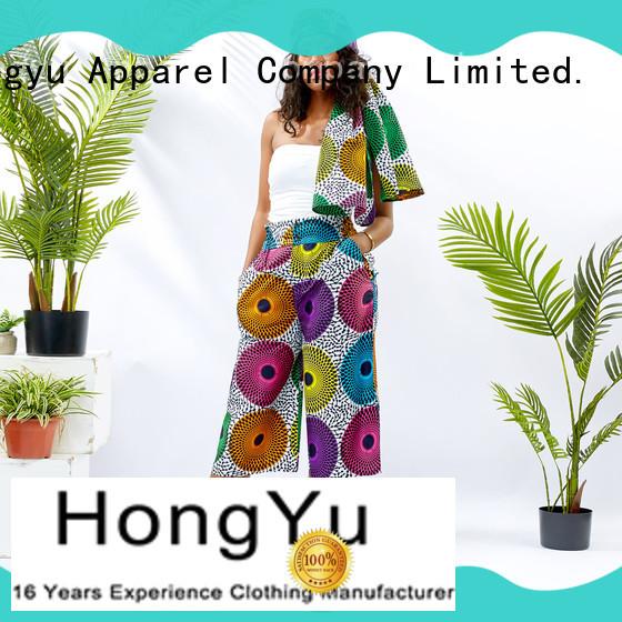HongYu Apparel women's cotton summer pants design reception