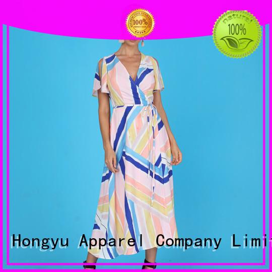 HongYu Apparel sequin african fashion dresses shoulder mall