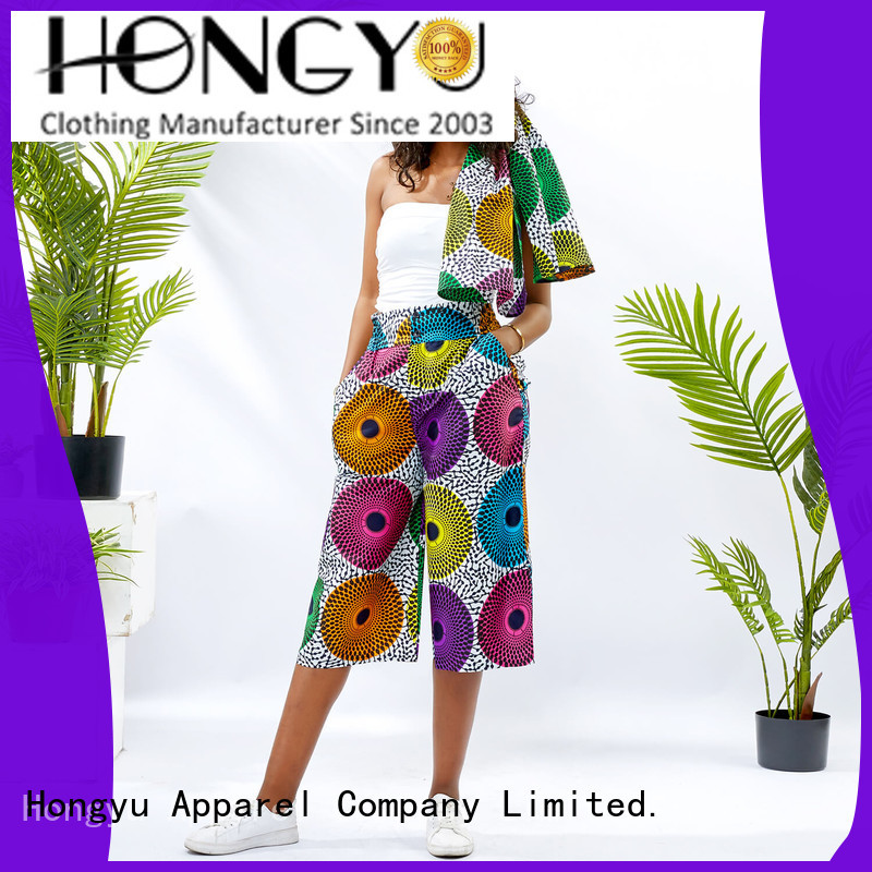 HongYu Apparel women pants service reception
