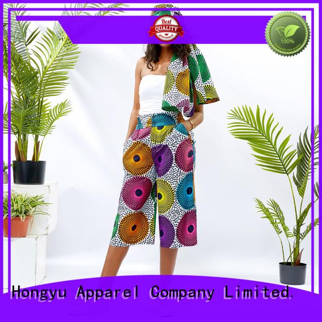 HongYu Apparel cotton casual dress pants womens wholesale travel