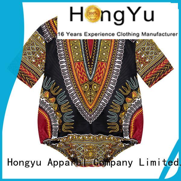 HongYu Apparel 100cotton rompers for girls kids romper children