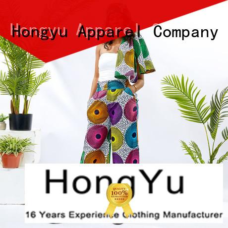 HongYu Apparel midi colored dress pants wholesale travel