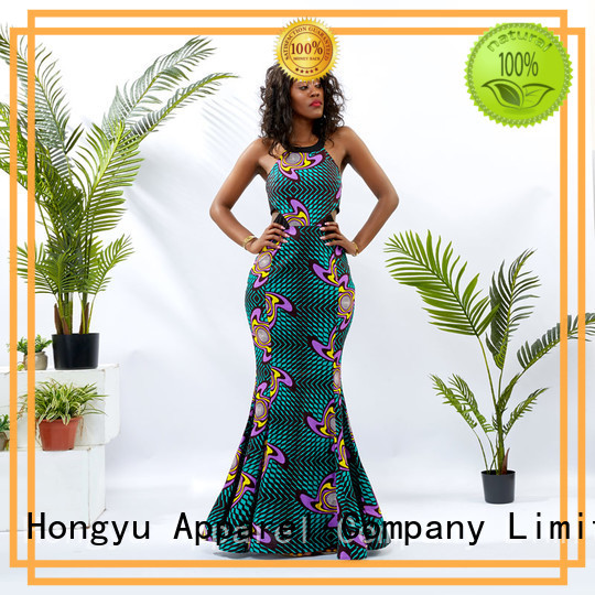 HongYu Apparel floral formal bodycon dresses floor reception