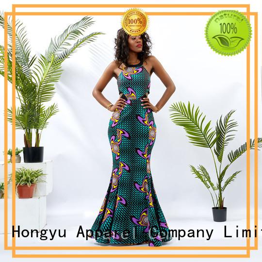 HongYu Apparel floral formal bodycon dresses floor reception