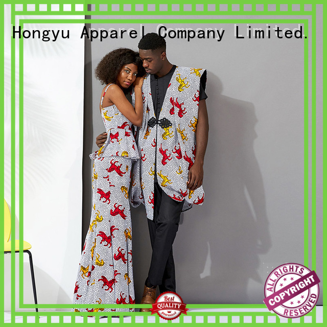 HongYu Apparel customized couple casual wear clothes ladies