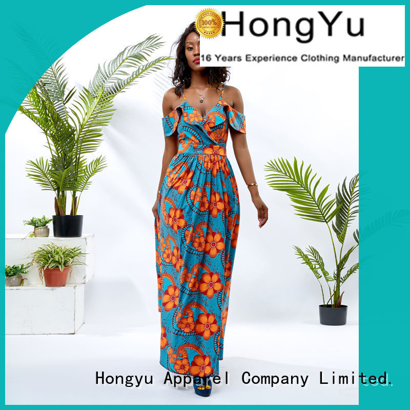 oem ladies summer dresses shoulder africa