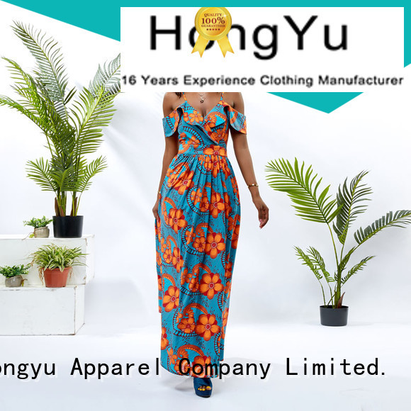 HongYu Apparel sequin cotton dress off africa