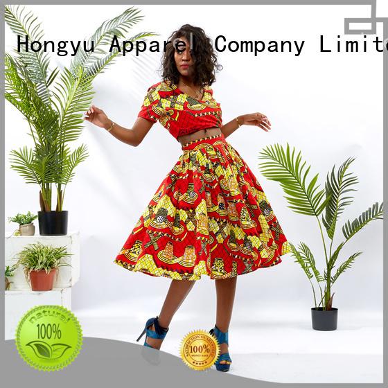 HongYu Apparel crop two piece long dresses women travel