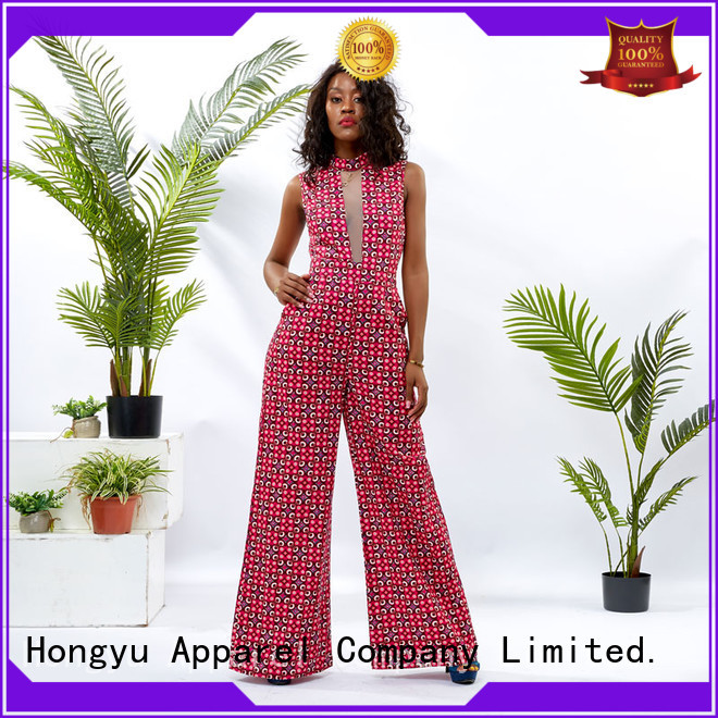 HongYu Apparel short sleeve jumpsuit service women
