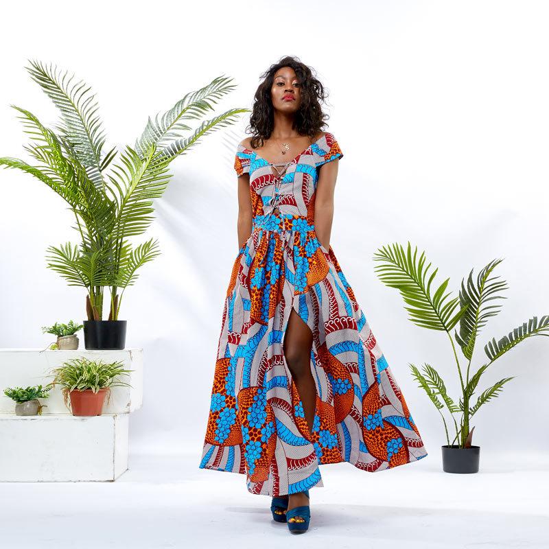 Wholesale Custom Apparel Women Off Shoulder Dress DH049