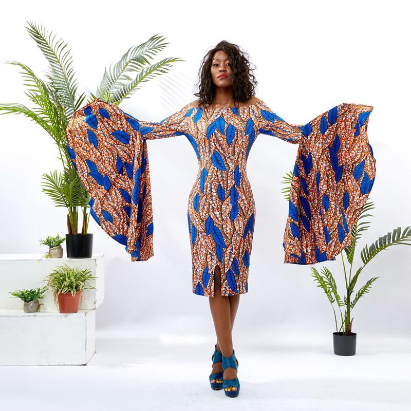 Custom Dress Supplier Women Digital Print Bodycon Dress DH078