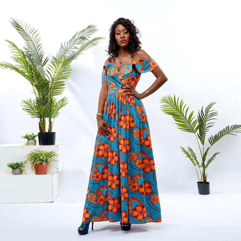 HongYu Apparel wrap african theme dress design mall-1