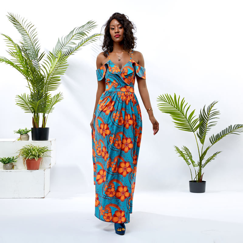 backless african long dresses designs wholesale africa