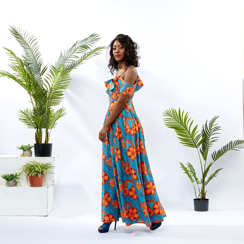 HongYu Apparel wrap african theme dress design mall-2