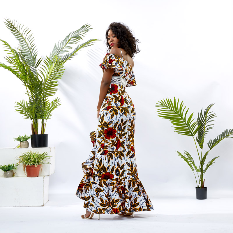 HongYu Apparel oem summer maxi dresses shoulder africa-1