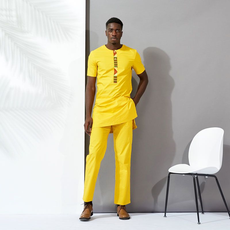 Yellow MAN TWO PIECES DESIGN DH087