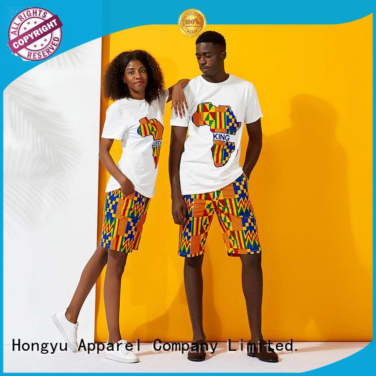 HongYu Apparel matching couple tees men