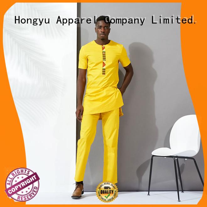 HongYu Apparel yellow mens shorts clothes man