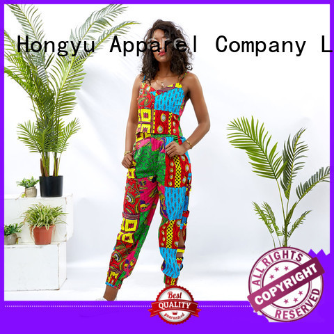 HongYu Apparel crop two piece dresses women africa