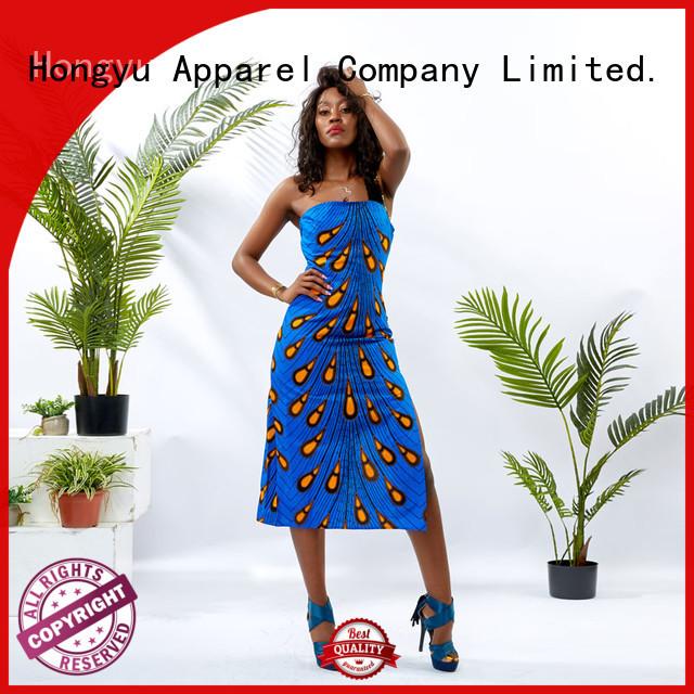 HongYu Apparel short wrap dress off mall