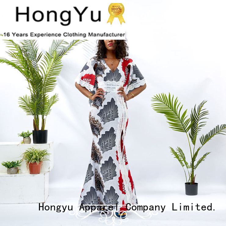HongYu Apparel floral modern african dresses women mall