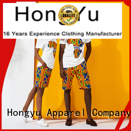 HongYu Apparel casual couple shirt design outfits ladies
