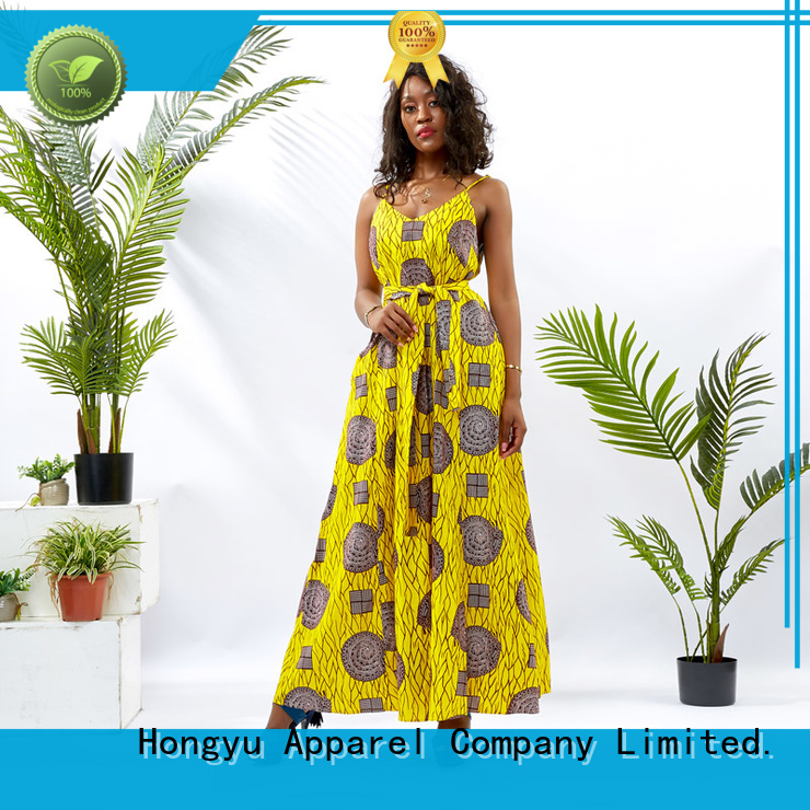 HongYu Apparel ankara floral dresses for women off africa