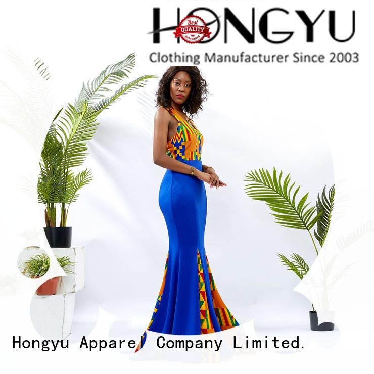 HongYu Apparel custom dresses shoulder mall
