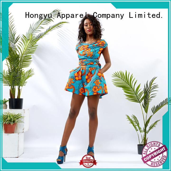 HongYu Apparel rayon summer rompers romper africa