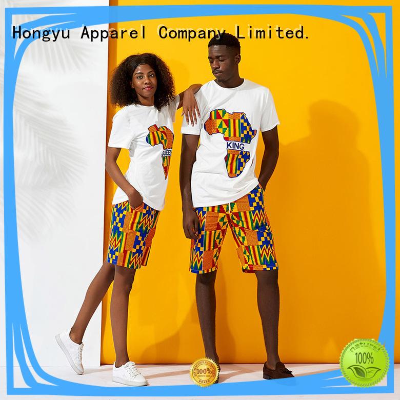 HongYu Apparel matching couple tshirt ladies