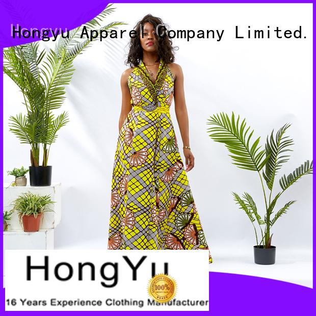 HongYu Apparel wrap best african dress designs floor mall