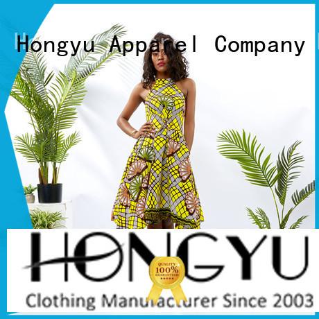 HongYu Apparel midi african print dress patterns africa