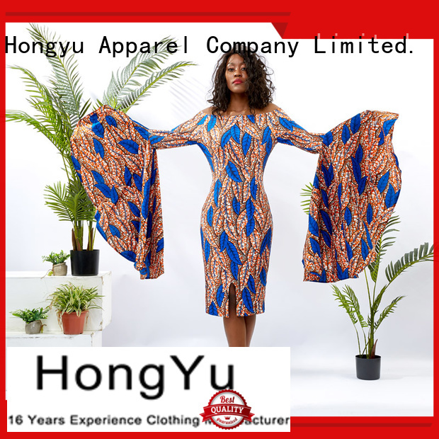 custom made dresses shoulder africa HongYu Apparel