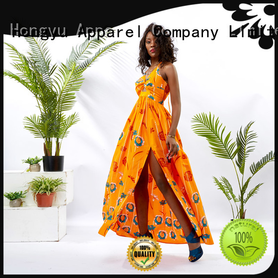 HongYu Apparel beautiful african dresses shoulder mall