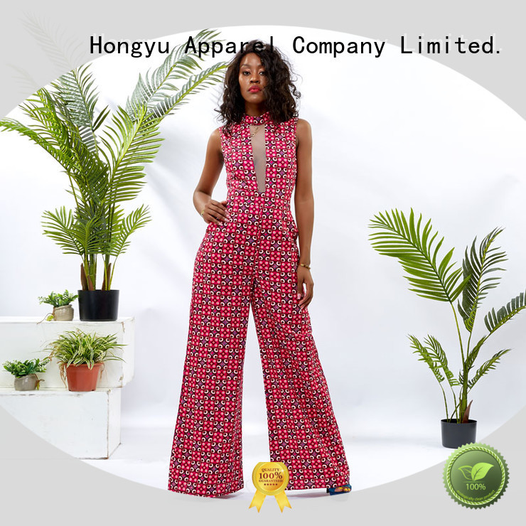 HongYu Apparel customize one piece jumpsuit romper travel