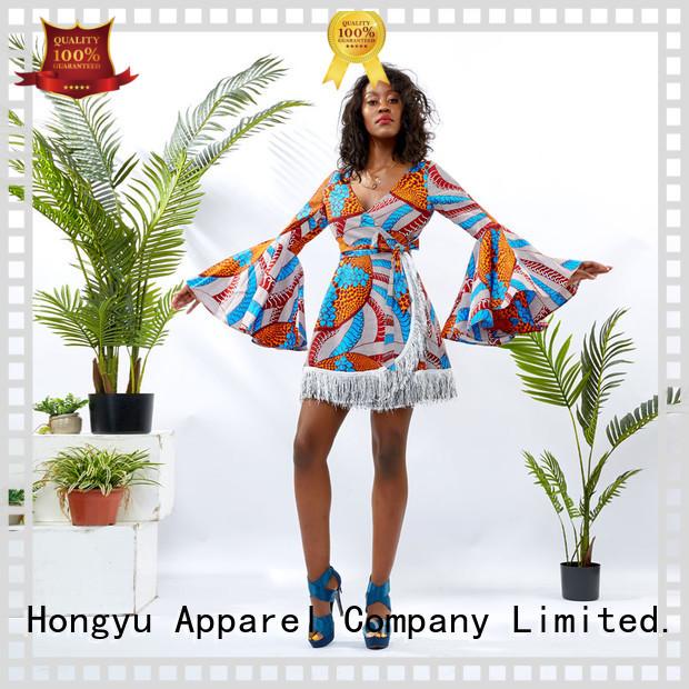 HongYu Apparel design modern african dresses off africa