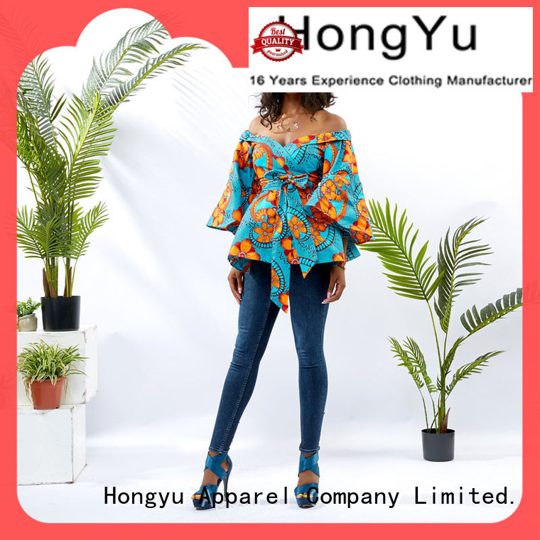 trendy tops for ladies africa HongYu Apparel